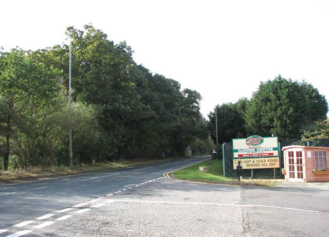 Beccles Road (A143) past Cherry Lane Garden Centre