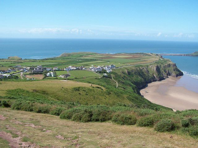 Rhossili from the beacon
