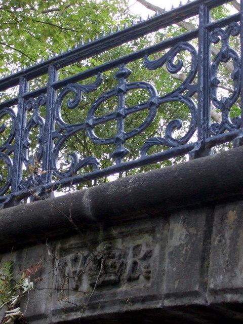 Royal insignia on Bonner Hall Bridge