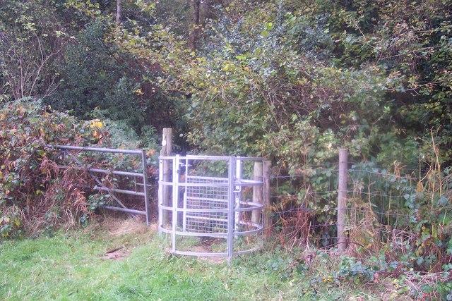 Kissing Gate near Bowzell Wood