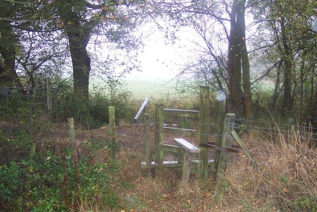 Stile near Bowzell Wood