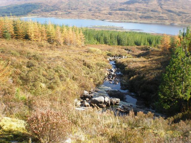 Burn going down to Loch Loyne