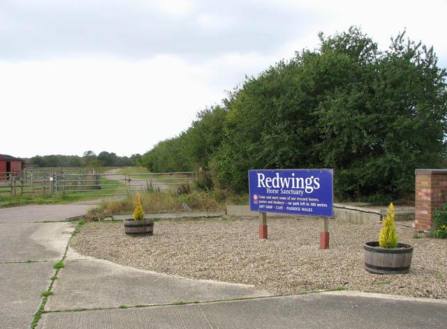 Redwings Horse Sanctuary - sign