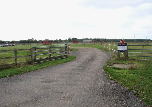 Redwings Horse Sanctuary - car park entrance