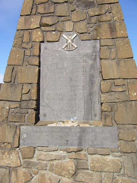 Battle of Bannockburn Monument plaque