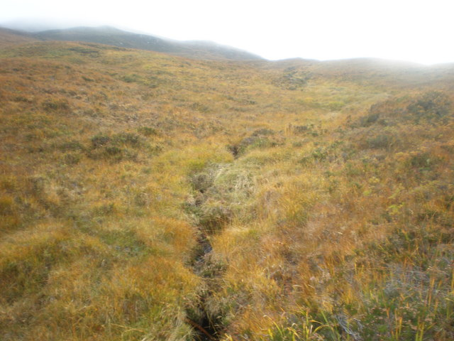 Allt Bealach Odhar tributary coming down from Clach Crìche