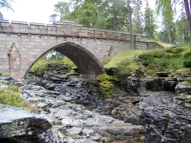 Bridge over  the Linn of Dee