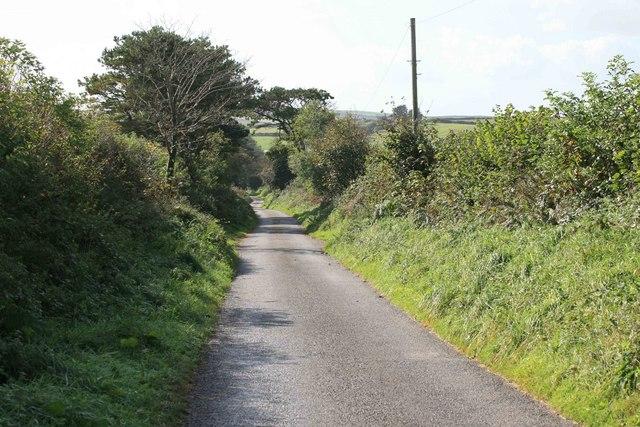This way towards Tregarrick farm