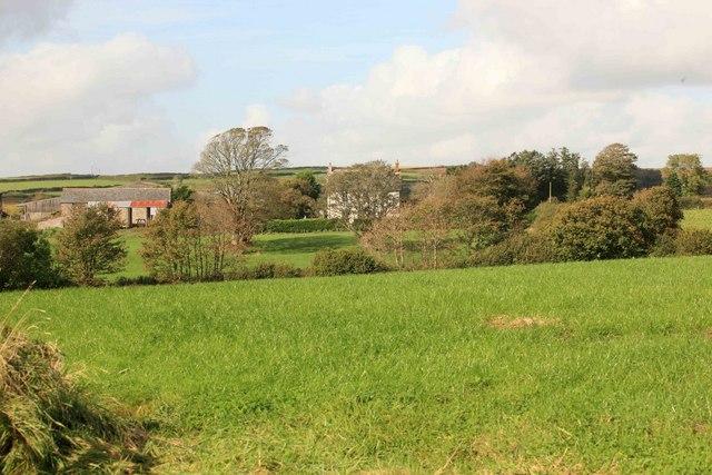 Tregarrick farm across the fields