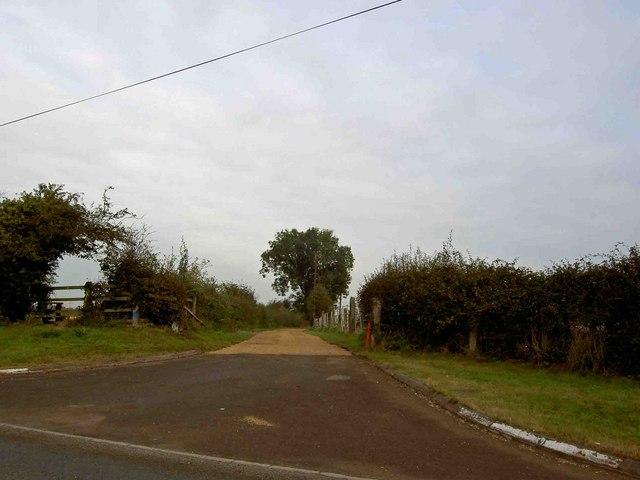 Farm access road near Shelford