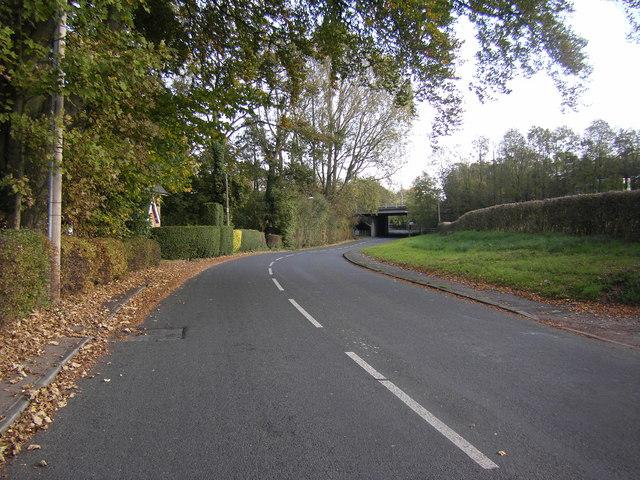 Durton Lane and M55 bridge