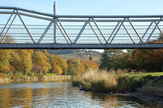Fotheringham Bridge and the Tweed, Peebles