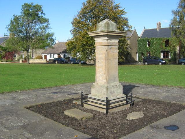 War Memorial, Tudhoe