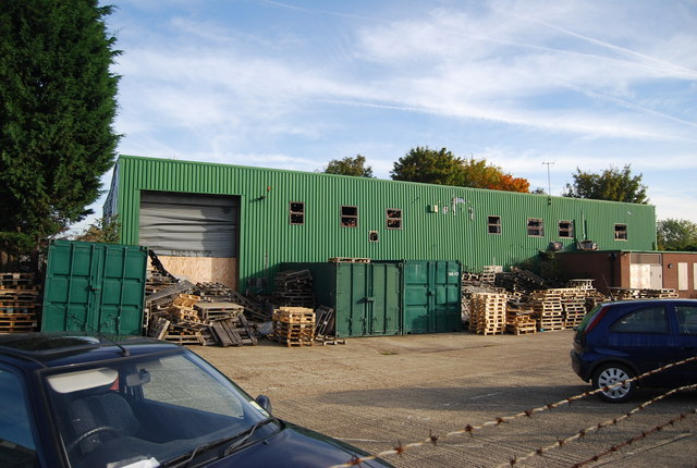 Derelict industrial unit, Priory Rd