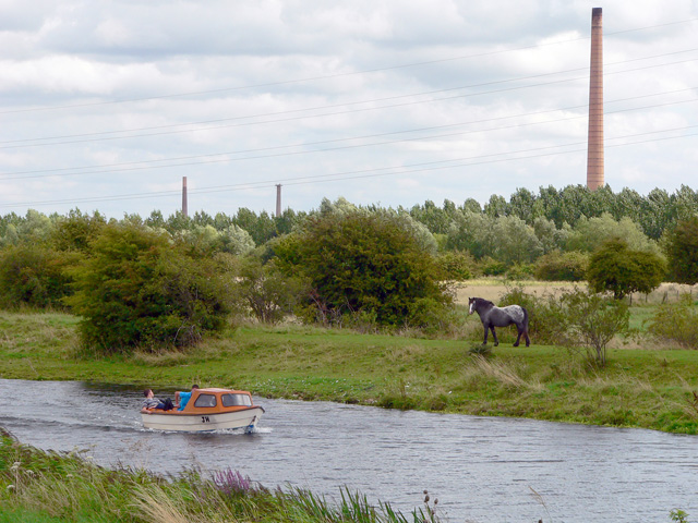 Boating on the Nene