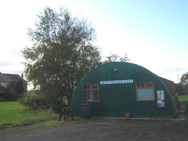 Hett Village Hall County Durham