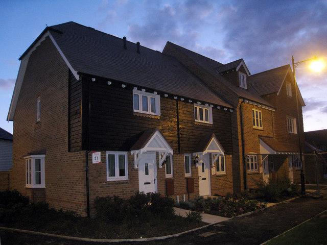 New Housing on Amber Lane, Kings Hill, Kent