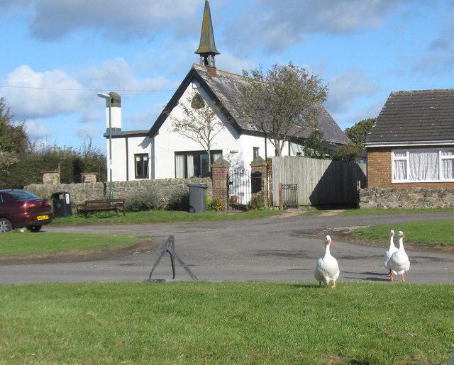 Residence in former chapel at Hett Village