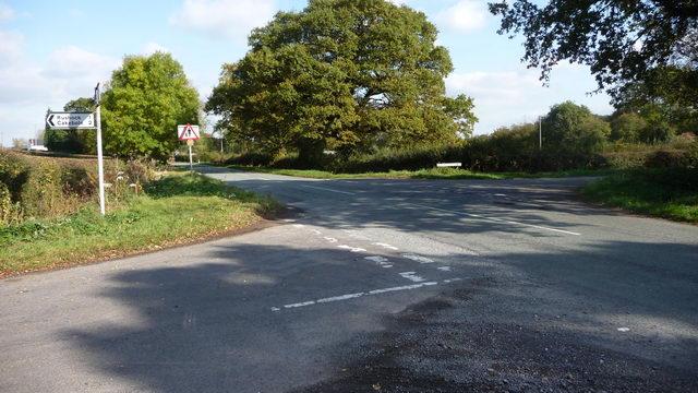 Road junction.