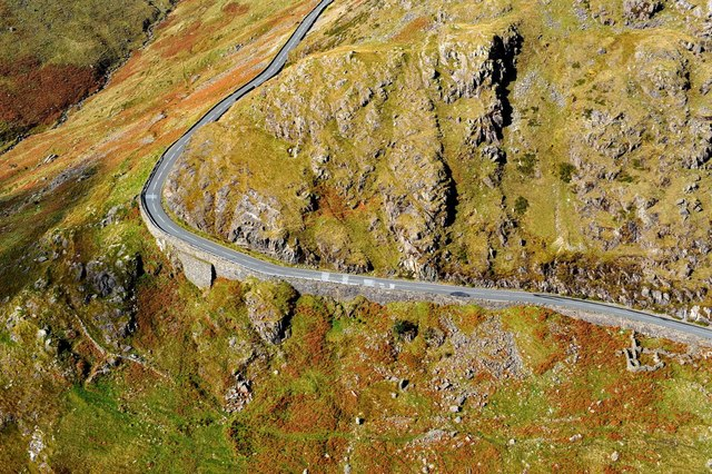 Road leading to Llanberis Pass