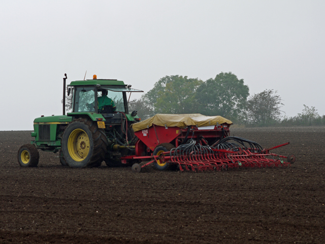 Seed Drilling on Elsham Hill