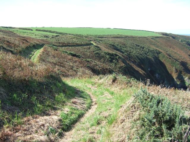 Coast path from Tiklas Point