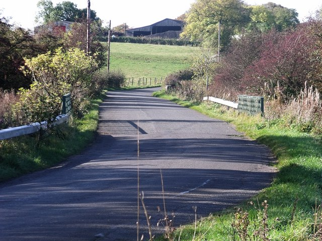 Chappleton Road over the Luggie bridge