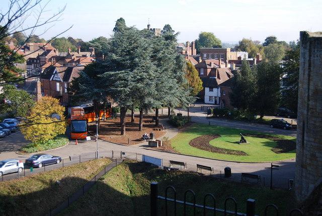 Market Place outside Tonbridge Castle