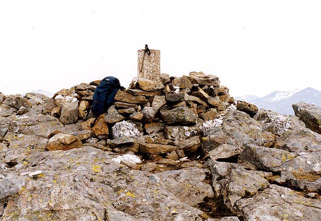 The summit of Beinn Fhionnlaidh
