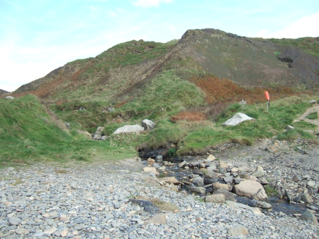 Two valleys converging at Druidston Haven beach