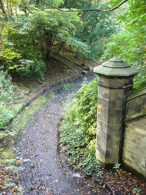 Warriston Cemetery path from old railway bridge