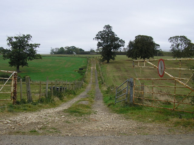 Track through the fields, Stocken Hall Farm, Stretton
