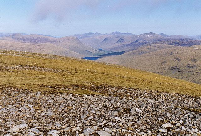 View east from Beinn Mhanach