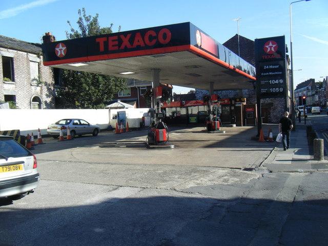 Texaco filling station, Wavertree.