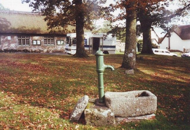 The village pump at North Bovey, Devon
