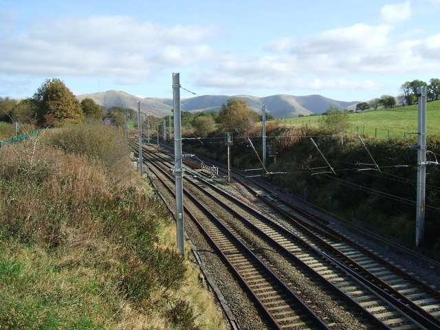 West coast main line-looking east at Shaw End