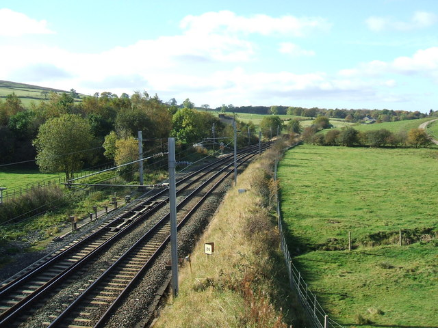 West coast main line -looking west at Shaw End