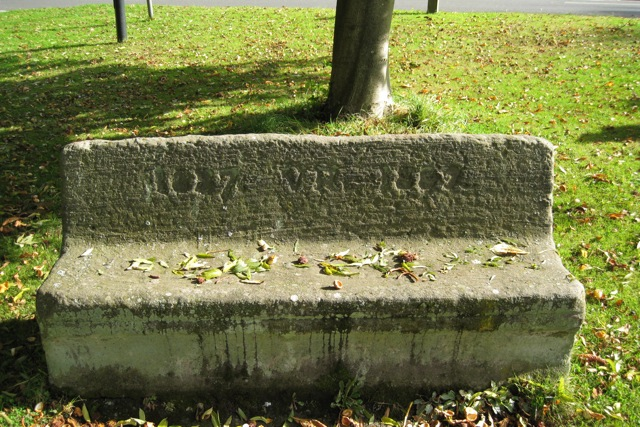 Commemorative stone seat, Old Milverton