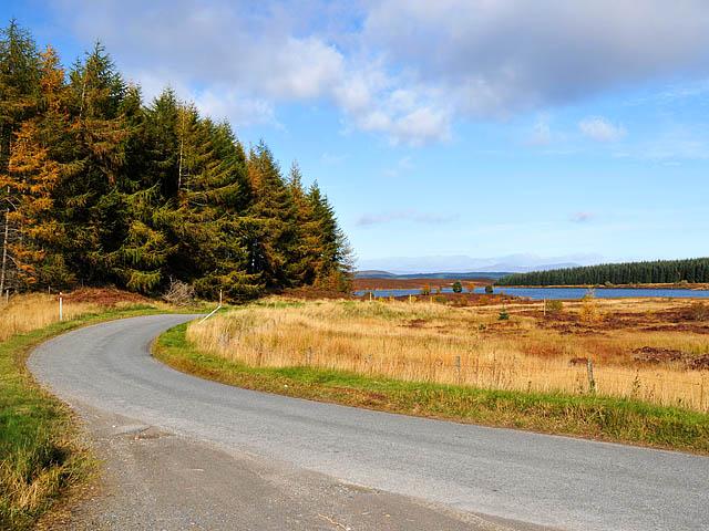 Minor road near Loch Kinardochy