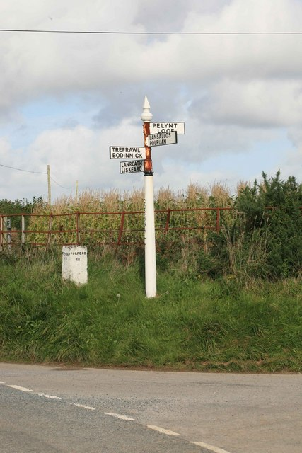 Cornish Signpost and old milepost