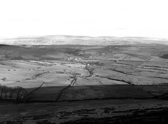 View over Barley from the summit of Pendle Hill