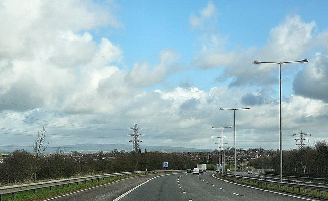 M 58 approaching Orrell