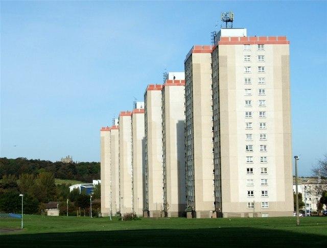 Moredun high rise flats