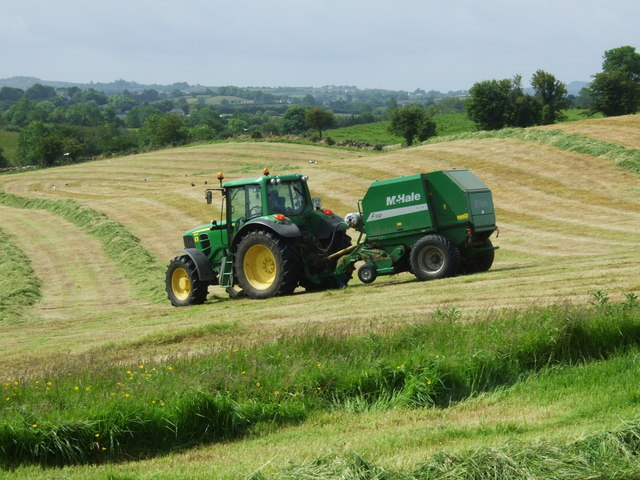 Silage making at Cabragh