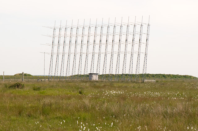 Antennas at Former Radio Station near Reaster