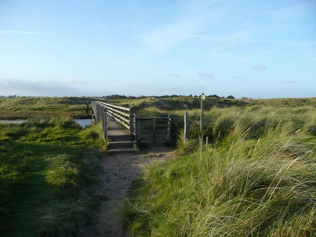 Footbridge over the Long Nanny Burn