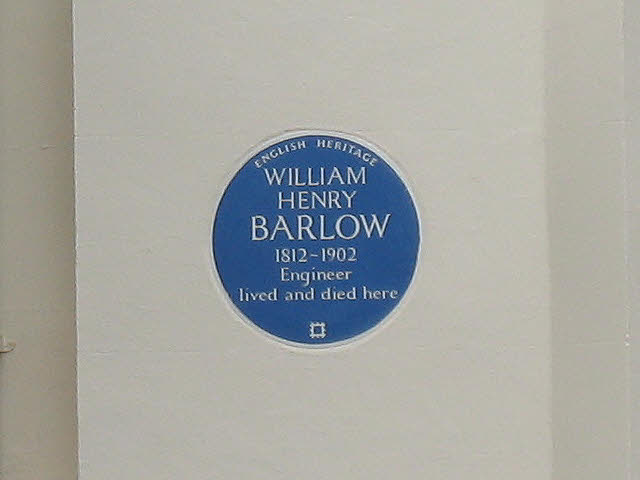 Plaque to William Barlow - Highcombe, Charlton