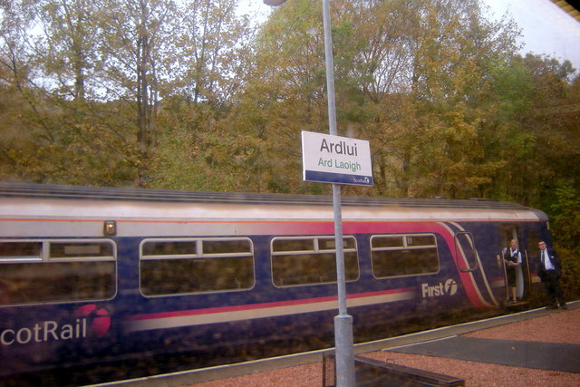 ScotRail train at Ardlui