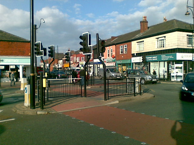 Traffic islands, in Houldsworth Square