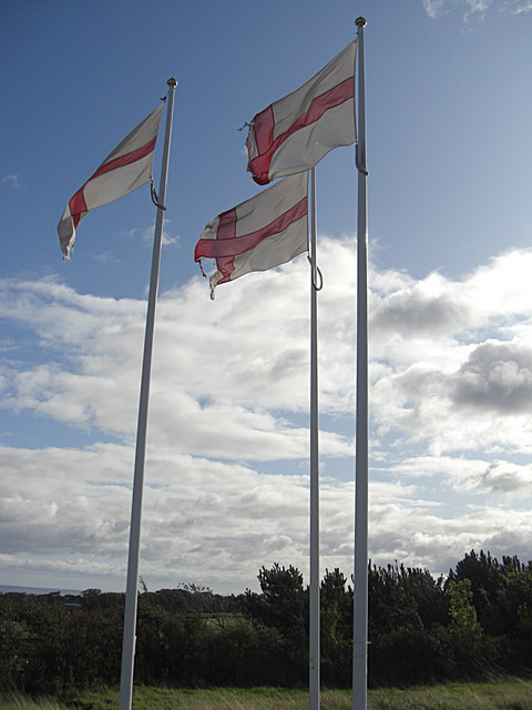 Three English flags
